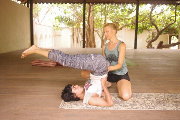 shoulder stand yin yoga ttc