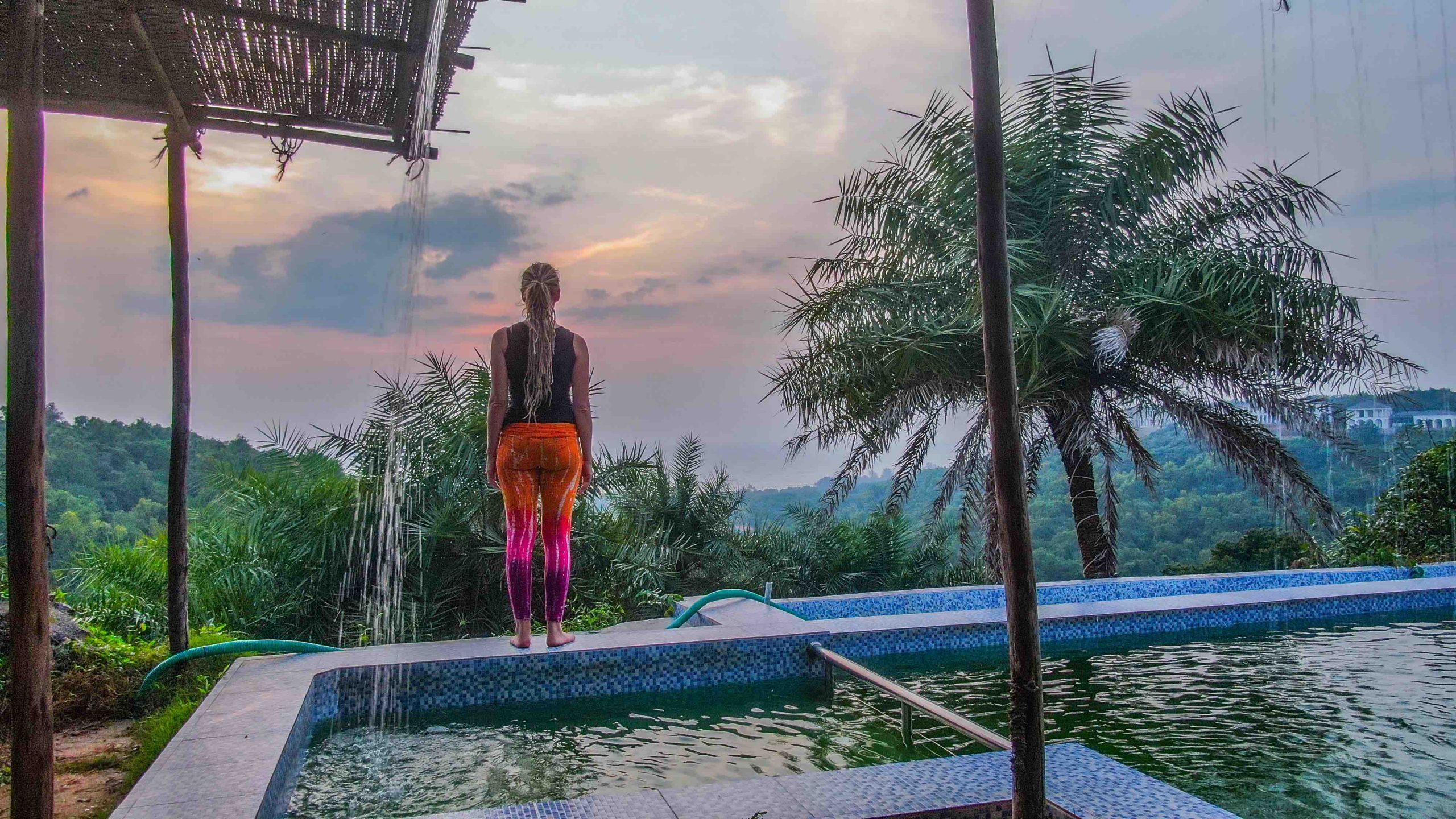 pool view yin yoga therapy training India